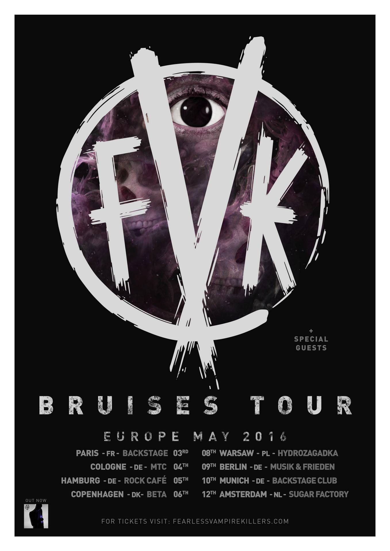 FVK Bruises EU tour poster