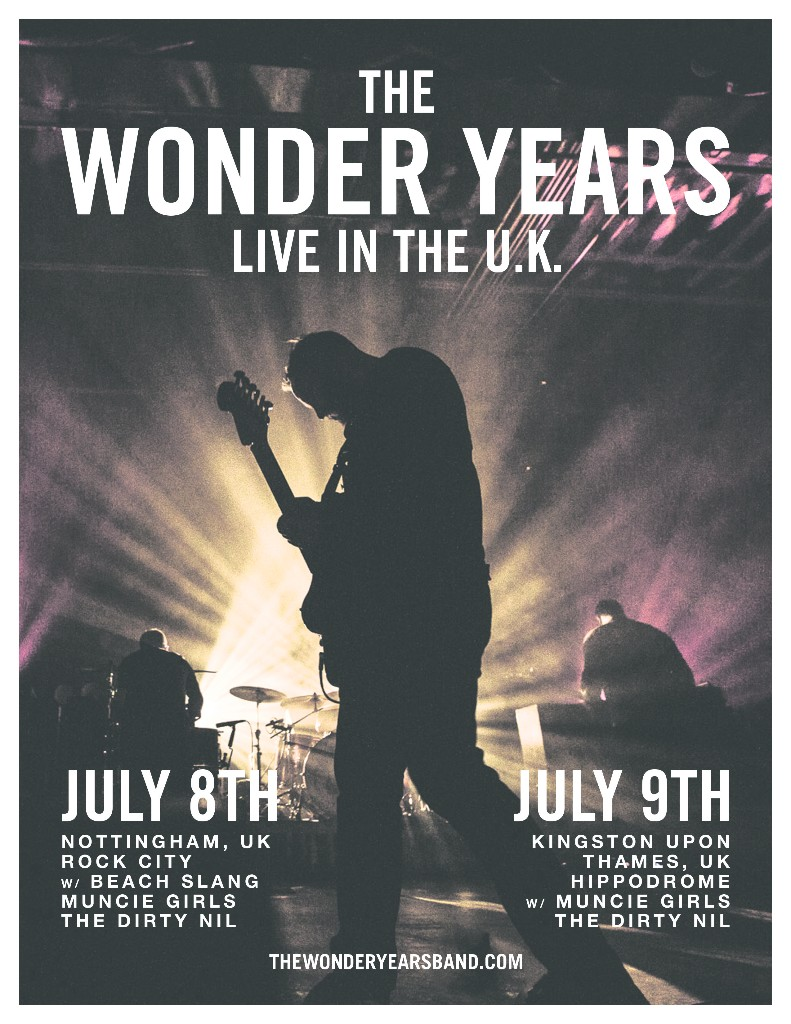 The Wonder Years announce two UK shows! - ALTCORNER com